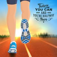Quotes Reslistic Poster Vector Illustration