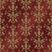 Seamless damask pattern for background or wallpaper design vector