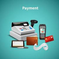 Payment Realistic Composition Vector Illustration