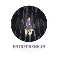 Entrepreneur Concept Isometric Composition Vector Illustration