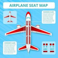 Airplane Seat Map Vector Illustration