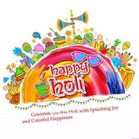 Happy Holi Background for Festival of Colors celebration greetings vector