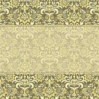 patrón floral para invitación o tarjeta de felicitación vector