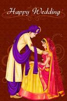 Indian man tieing Mangala Sutra to woman in wedding ceremony of India vector