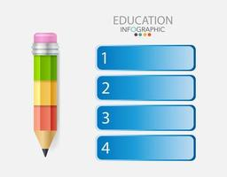 Infographic template in 4 steps Template for diagram graph presentation and chart vector