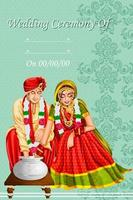 Indian couple playing Ring Fishing game in wedding ceremony of India vector