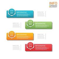 Modern business infographic 4 step vector template