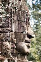 Bas relief at Angkor Thom Temple in Siem Reap, Cambodia photo