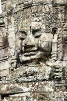Bas relief at Angkor Thom Temple Siem Reap Cambodia photo