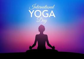 International Day of Yoga background vector