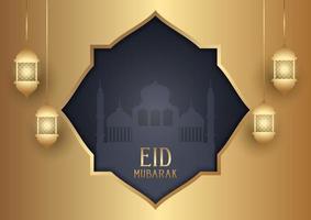 fondo decorativo eid mubarak vector