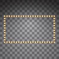 Shining yellow led vector