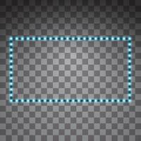 vector led azul brillante