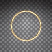 marcos de círculo de vector led dorado brillante