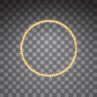 Shining golden led vector circle frames
