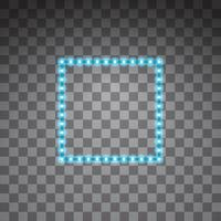 Shining blue led vector