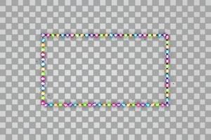 Rayas LED con línea en el fondo. vector