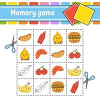 Memory game for kids vector