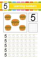 Learning numbers for kids five vector