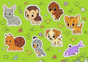 Set cute animals vector