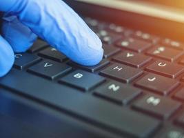 trabajo en línea remoto debido a la epidemia de coronavirus foto