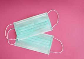 Surgical mask with rubber ear straps photo