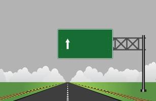 Road highway signs Green board on road vector