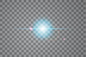 efecto de luz de destello de lente especial de luz solar vector