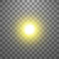 efecto de luz de destello de lente especial de vector