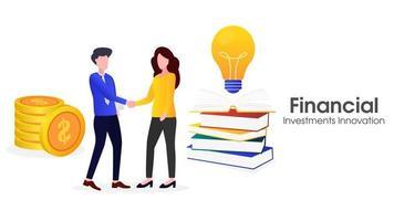 Ilustración de innovación de inversión financiera. vector
