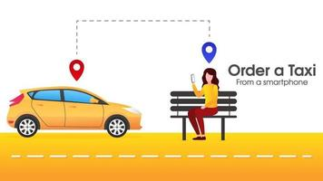 People are ordering online transportation vector
