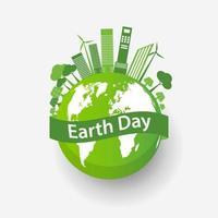 concepto de ciudad ecológica y medio ambiente con ideas ecológicas vector