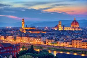 Florence, Tuscany night scenery photo