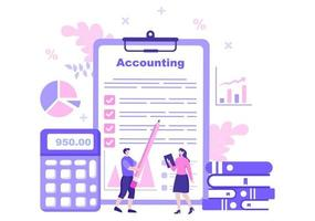 Financial Management or Accounting Vector Illustration