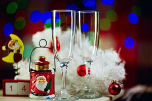 Christmas still life with Champagne photo