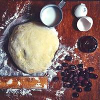 pasteles y bayas foto