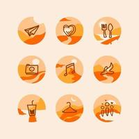 flat hand drawn highlight stories collection vector