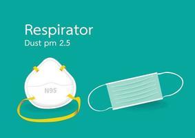mascarillas para prevenir el polvo y el coronavirus vector