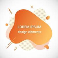 Modern liquid abstract element graphic gradient flat style design fluid vector colorful illustration banner simple shape template for presentation flyer isolated on white background