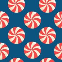 Pattern with christmas candies vector