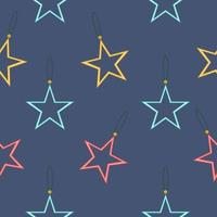 Seamless pattern with colorful stars vector