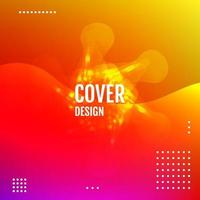 Abstract gradient background with trend colors Vector
