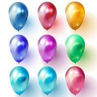 Colored balloons vector illustration on white background