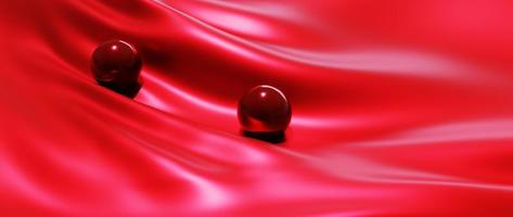 Red ball and silk photo