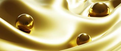 Golden ball and silk photo