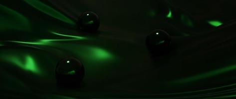 Green ball and silk photo
