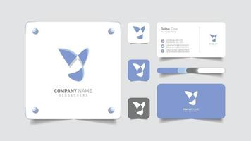 digital logo design and business card vector