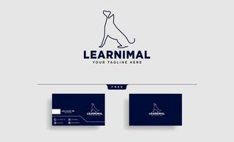 dog pet animal line art style logo template vector icon element isolated