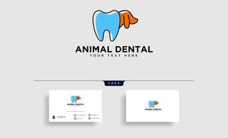 dental Animal consulting logo template vector illustration with business card