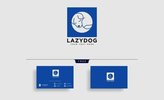 pet animals care consulting logo template vector illustration with business card